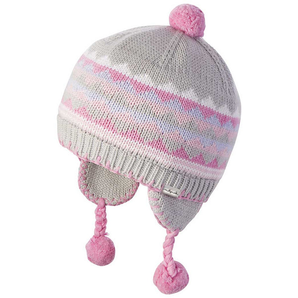 Baby Girls' Malibu Pink Peru Winter Hat