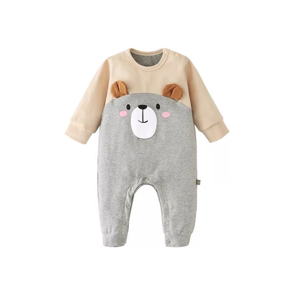 Tan & Grey Bear Romper