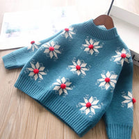 Teal Snowflake Sweater