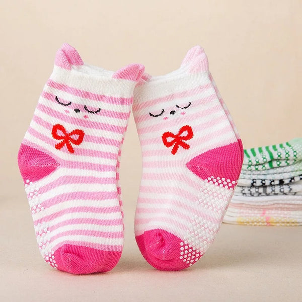 Cute Critter Pink Baby Socks - 2 pair