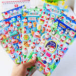 Cute Kawaii Merry Christmas and Halloween Party Puffy Stickers