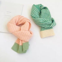 Unisex Winter Check Mini Scarf
