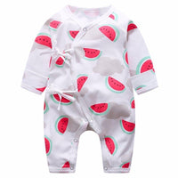 Watermelon Long Sleeve Kimono Onesie for Babies