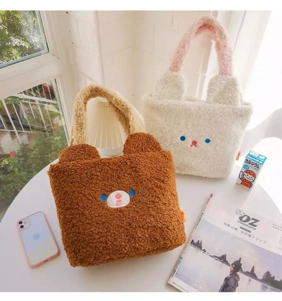 Cute & Fuzzy Kawaii Club Large Handbag