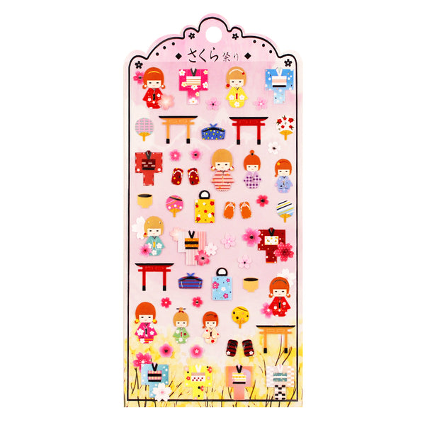 Japanese Kokeshi Doll Stickers