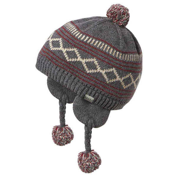 Baby Boys' Grey Maxwell Peru Winter Hat