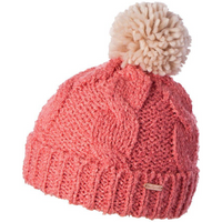 Girls' Cable Knit Beanie - Amira Coral