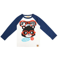 """Optician in Booland"" Raglan Sleeve Shirt by Hot Cheese"