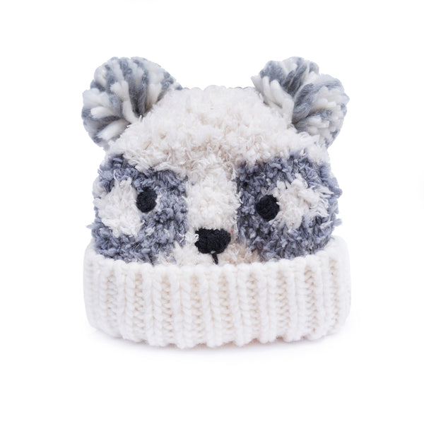 Fuzzy Panda Winter Hat
