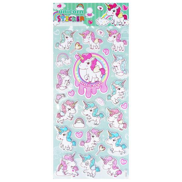 Puffy Cute Unicorn Stickers