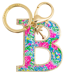 Lilly Pulitzer Initial Key Chain