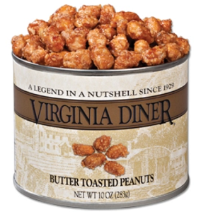 Virginia Diner Butter Toasted Peanuts 10 oz