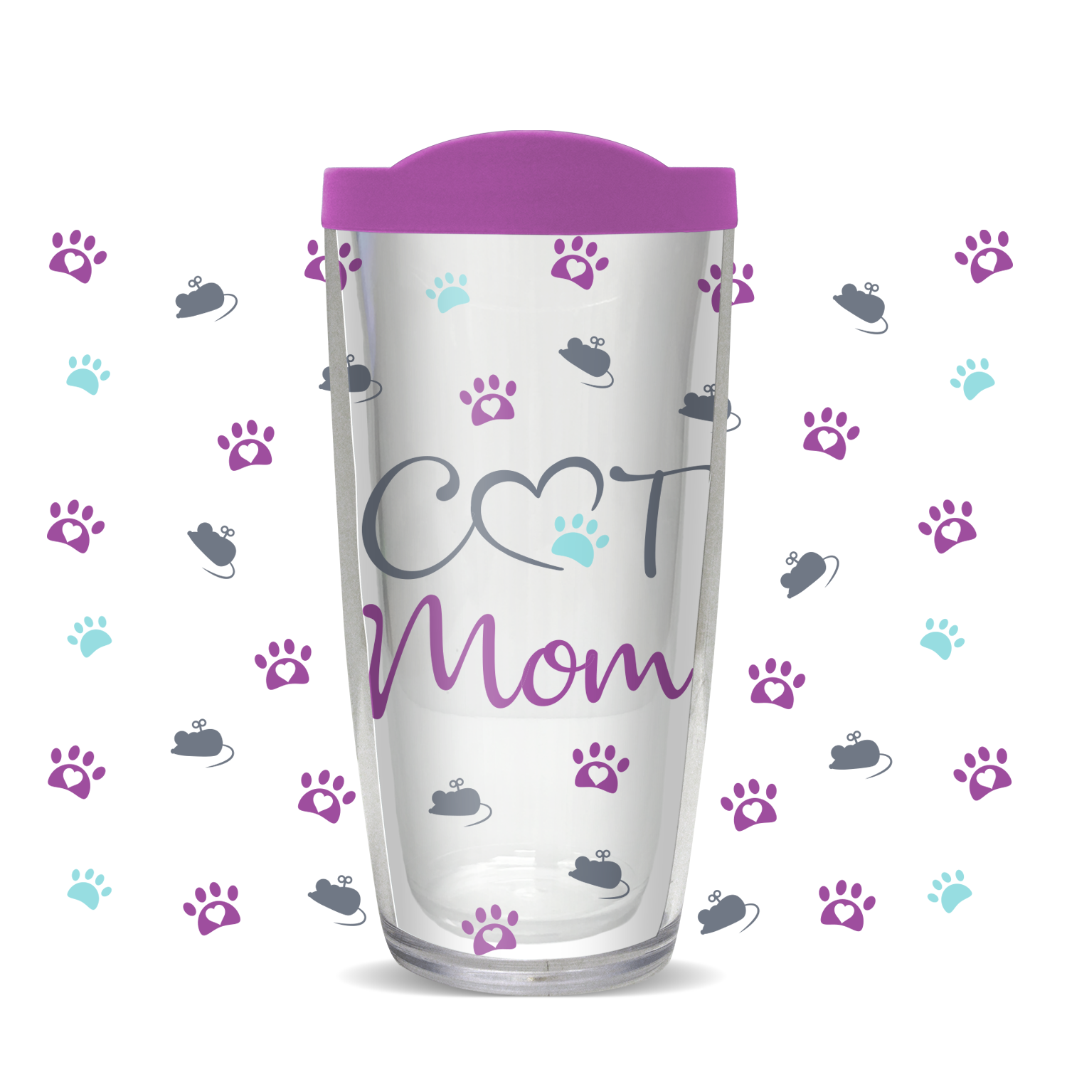 Cat Mom 16oz Tumbler