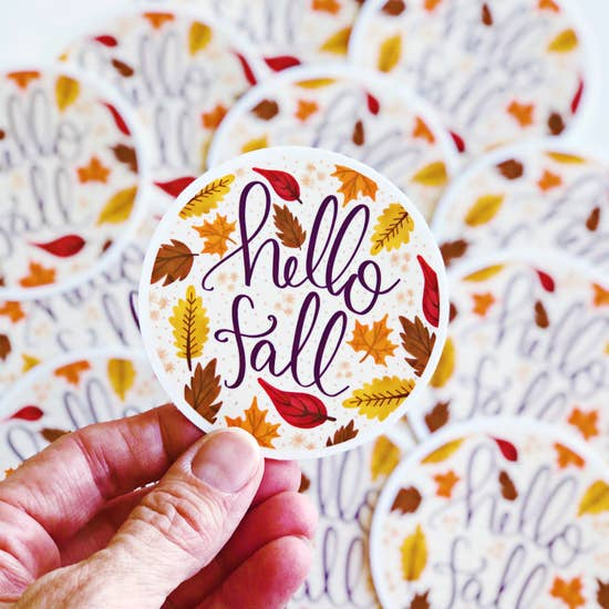 Hello Fall Sticker