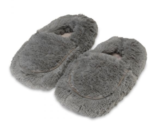 Warmies Plush Slippers - Gray