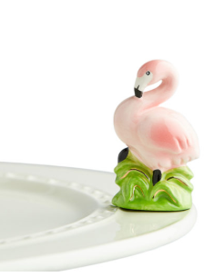 Nora Fleming Tickled Pink Flamingo Mini