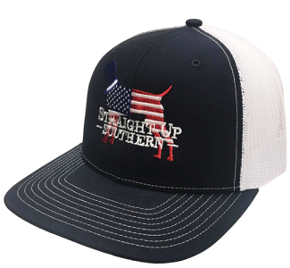 Straight Up Southern USA Dog Mesh Hat