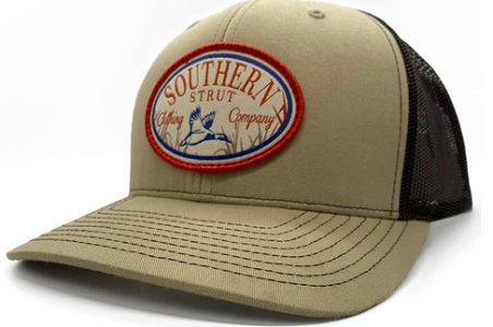 Southern Strut Woven Duck Patch Khaki/Coffee Hat