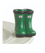 Nora Fleming Jumping Puddles Galoshes Mini A227