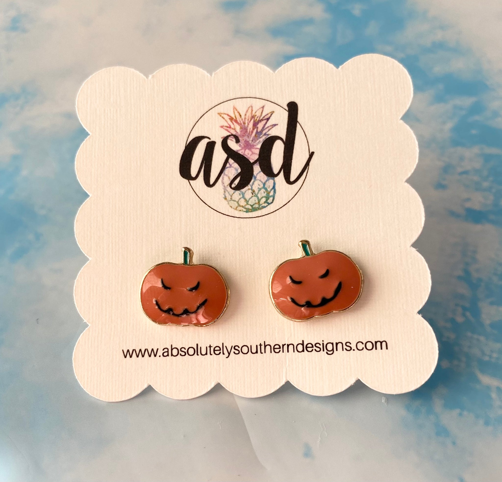 Jack O Lantern Stud Earrings