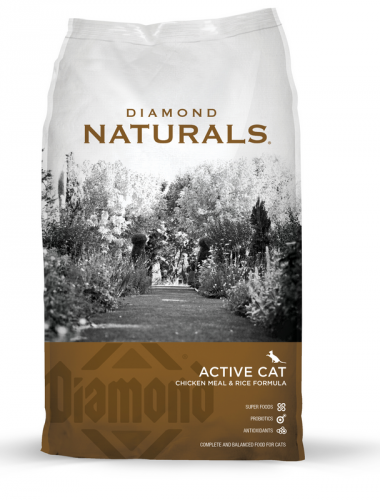 Diamond Naturals Active Cat Chicken Meal and Rice Formula Dry Cat Food