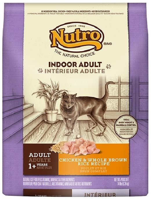 Nutro Indoor Adult Chicken and Whole Brown Rice Recipe Dry Cat Food