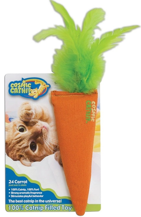 Cosmic Catnip 24 Karat Carrot Cat Toy
