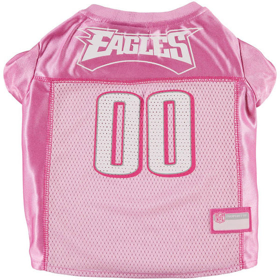 Philadelphia Eagles Pink Mesh Dog Jersey