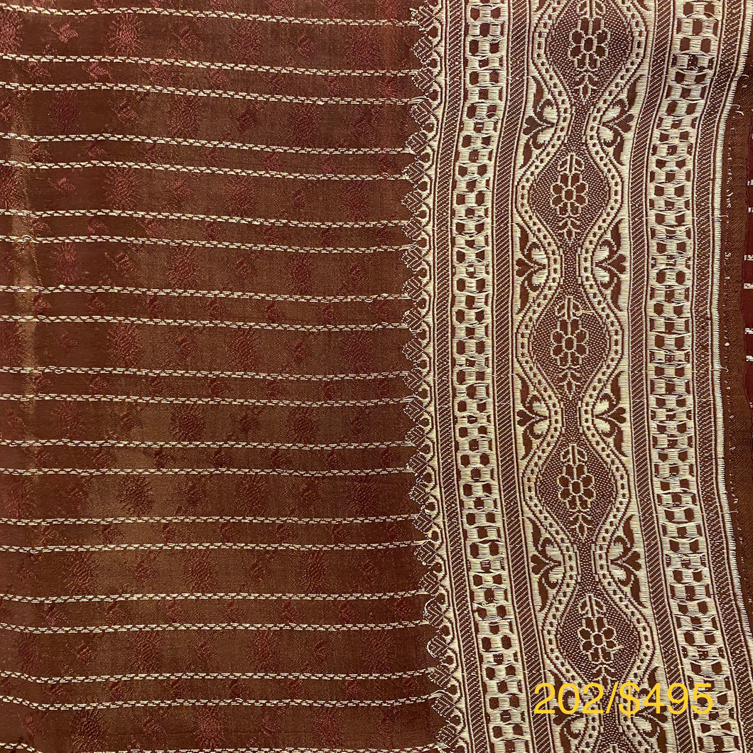 Vintage Banarasi Saree 202 - Vintage India NYC