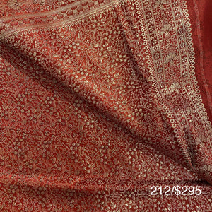 Vintage Banarasi Saree 212 - Vintage India NYC