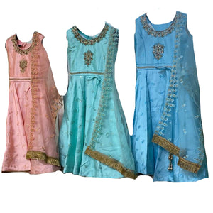 DT Girl's Anarkali-3 Colors - Vintage India NYC