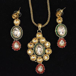SH Earrings and necklace set - Vintage India NYC