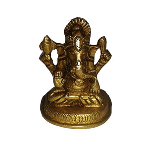 AK 1041 Brass Ganesh - Vintage India NYC
