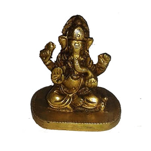AK 1044 Brass Ganesh - Vintage India NYC