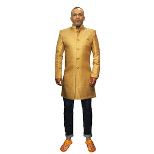 Bn Gold Sherwani - Vintage India NYC