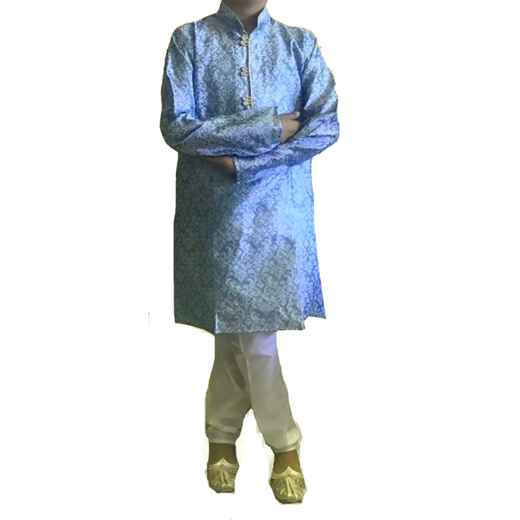 DT Boys Lt. Purple Brocade Kurta