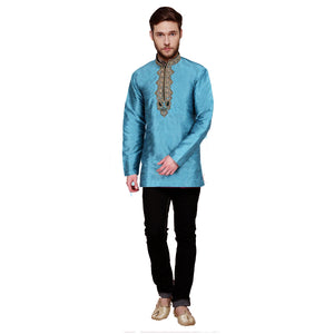 DT Celadon Short Kurta - Vintage India NYC