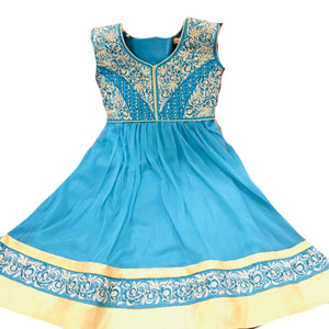 DT Girls Light Blue Anarkali - Vintage India NYC