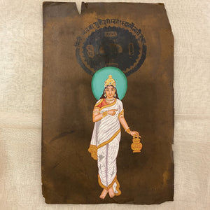 Vintage Hand Painted Court Painting - Indian Goddesses - 3 Styles - Vintage India NYC