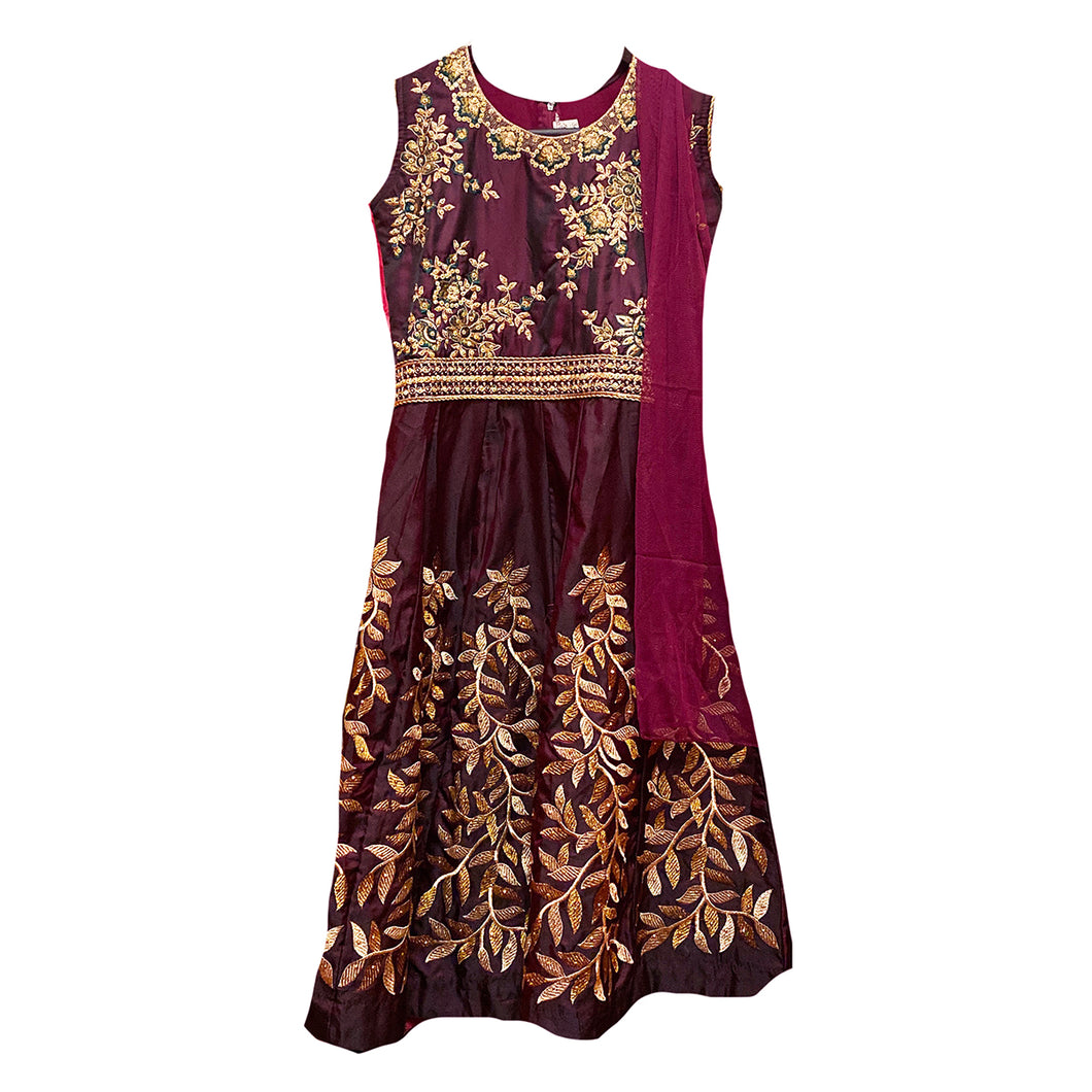 DT Girls Wine Anarkali - Vintage India NYC