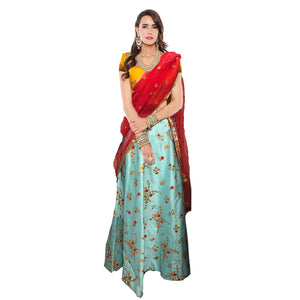IE Floral Lehenga-5 colors - Vintage India NYC