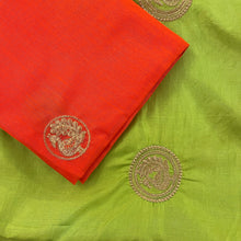Bright Green Silk Saree - Vintage India NYC