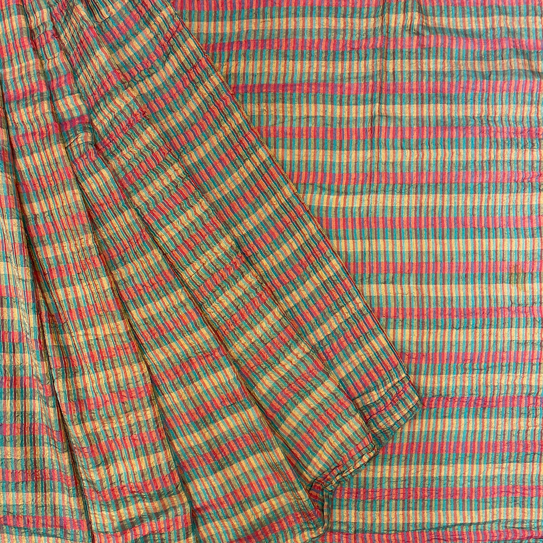 Multicolor Silk Saree - Vintage India NYC