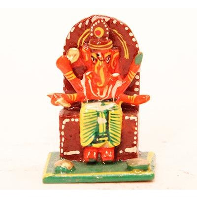 Mini wooden Ganesh