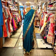 AR Plain Saree with Brocade Border - Vintage India NYC