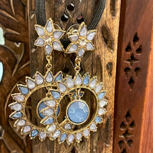 Light Blue Flower Earrings - Vintage India NYC