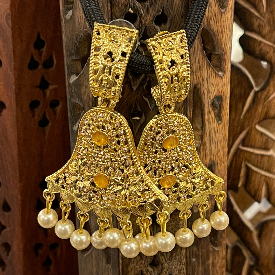 Gold Earrings - Vintage India NYC