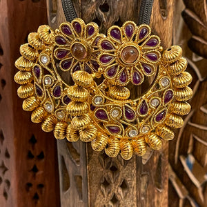 Purple Gold Earrings - Vintage India NYC