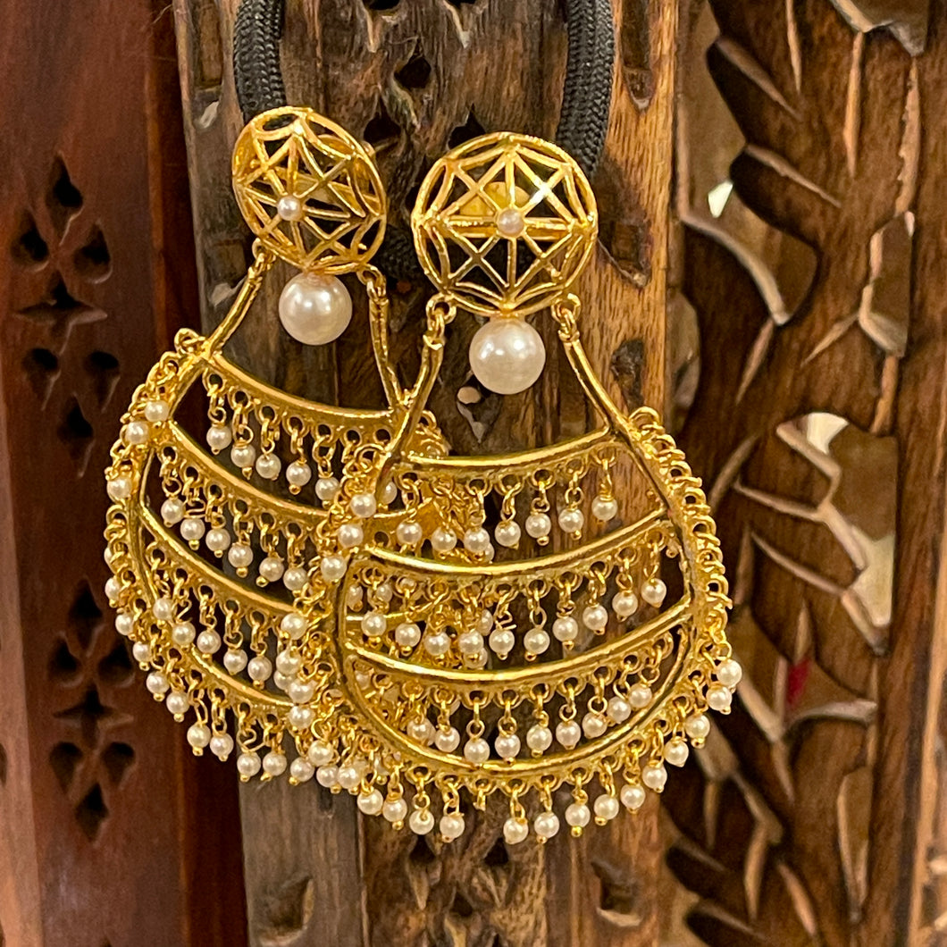Gold Plated Earrings - Vintage India NYC