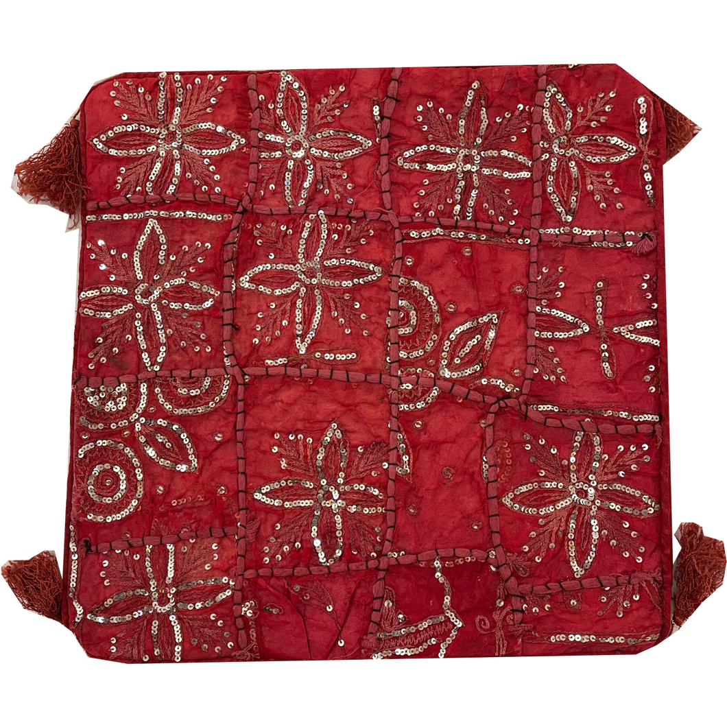 Red Handmade Pillow Covers 12